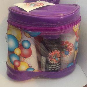 mary kay rub-a-dub bubble bath set funny foam bag